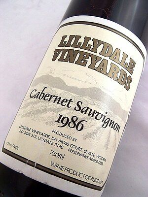 1986 LILLYDALE Vineyards Cabernet Sauvignon Isle of Wine