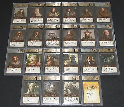 The Hobbit: An Unexpected Journey Trading Cards 22 Auto Card Set BGS 10 & 9.5