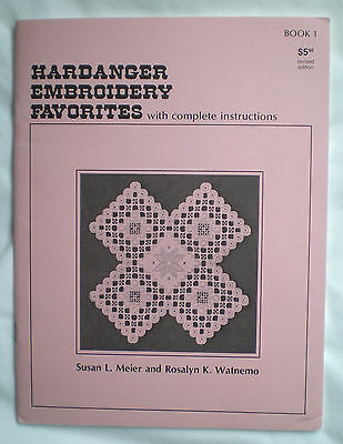 Hardanger Embroidery Favorites w/ Stitch Diagrams & Complete Instructions 48 Pgs