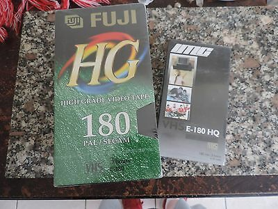 5 x BRAND NEW UNUSED FUJI VHS BLANK VIDEO TAPES 3 HOURS PAL E-180 NOS CASSETTES