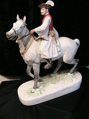 "HEREND ""CSIKOS"" HUNGARIAN HORSERIDER EXQUISITE LARGE Porcelain Figurine"