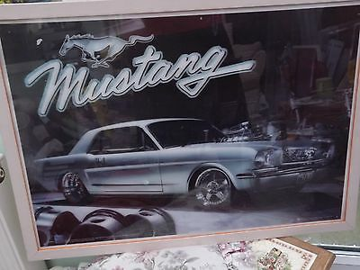 Ford Mustang picture, 3D effect picture framed, Ford Motor Company official prod