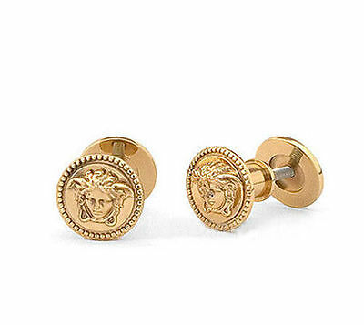New & Authentic Versace Home Medusa Paired Cabinet Knobs 24K Gold - Stunning!