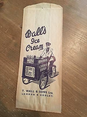 Old Walls Ice Cream Pictorial Paper Bag - Edwardian?
