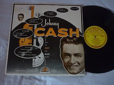 Johnny Cash-With His Hot And Blue Guitar-Us Mono 1957-Sun Lp 1220-Ex To Ex-