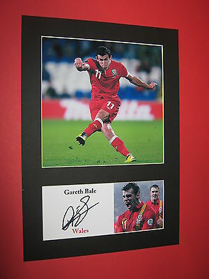 Gareth Bale Wales A4 Photo Mount Signed Reprint Autograph Tottenham Real Madrid