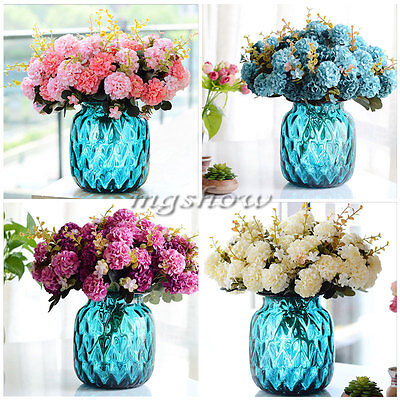 10 Heads Artificial Daisy Flower Silk Spherical Bouquet Home Party Wedding Decor