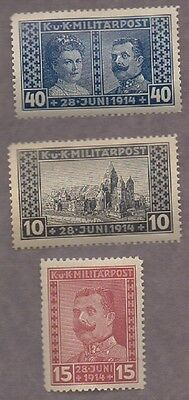 Assassination Of Archduke Ferdinand Mint Occupied Bosnia Stamps Outbreak Of Wwi