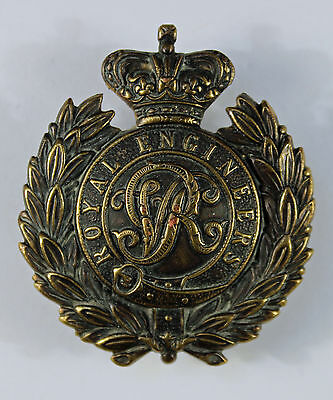 Royal Engineers QVC Boer War Non-Voided Forage Cap Badge From 1898