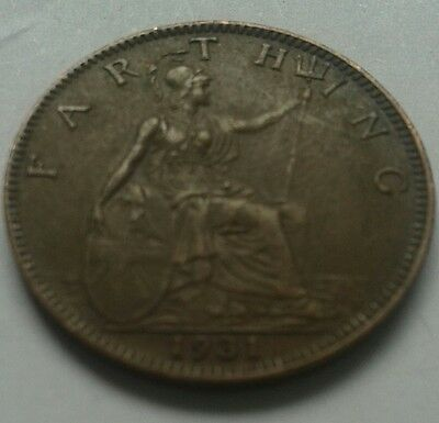 1931 King George V Farthing Coin Great British Coin