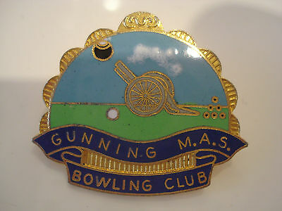 Gunning M.A.S Bowling Club Badge