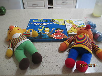 SESAME STREET Collectable  items.Pop up book, LP record set,soft toys & more