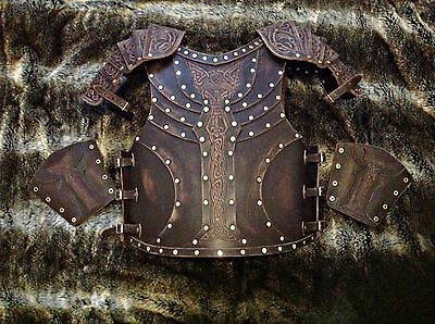 Real leather 4mm medieval armour larp cosplay battle ready game of thrones