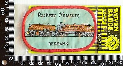 Vintage Railway Museum Redbank Embroidered Souvenir Patch Woven Cloth Sew Badge