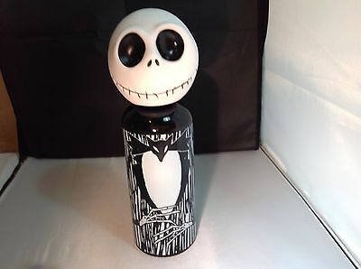Nightmare Before Christmas Jack  Aluminum Water Bottle With Vinyl Head. New !!!