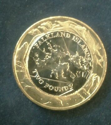 2004 Falkland Islands £2 Two Pound Coin  -  UNC