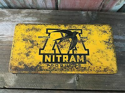 vintage 50s Nitram Rivet tin classic Car Garage collectable advertising