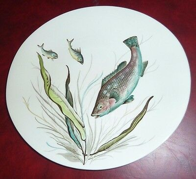 Vintage Johnson Bros England Fish Series Hand Engraved Plate Design No 7 Vgc