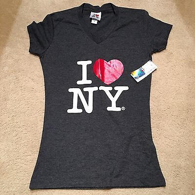 Kids Black I Love New York T- Shirt - Size Small By Rafia