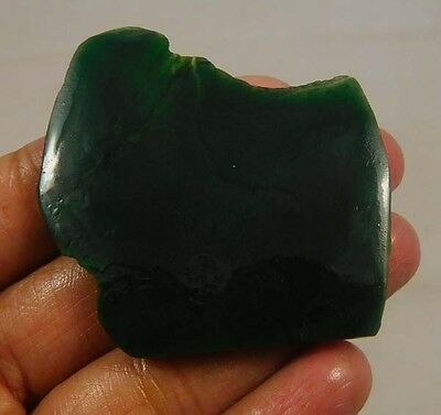 70 Cts. 100% Natural Free From Green Jade Slice Rough Minerals Specimen SNG300