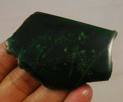 80 Cts. 100% Natural Free From Green Jade Slice Rough Minerals Specimen SNG288