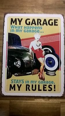 Vintage Style Tin Sign Large 40 x 30 cm