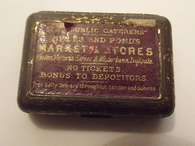 Vintage Rare Advertising Vesta Case For The Public Caterers By Bryant & May