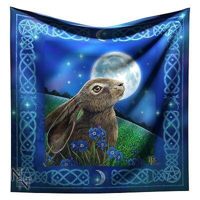 Nemesis Now Lisa Parker *moon Gazing Hare* Altar Cloth Occult/witch/pagan Bnip