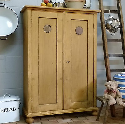OLD PINE CUPBOARD Linen Cupboard ANTIQUE PINE KITCHEN CABINET Shoe Cabinet