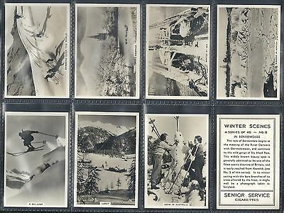 Pattreiouex Ltd., Winter Scenes, Set Of 48 Issued In 1937. All Scanned.