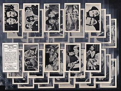 R & J Hill Ltd., Scenes From The Films, Original Set Of 40 Issued In 1938.