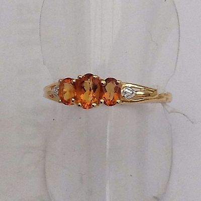 Gold On Silver Citrine Ring 3Fabulous Stones