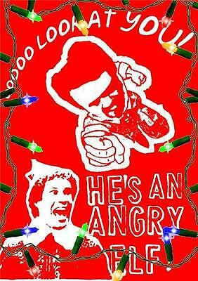 ELF - Classic Will Ferrell CHRISTMAS Film Angry MILES FINCH Elf Mens T-shirt