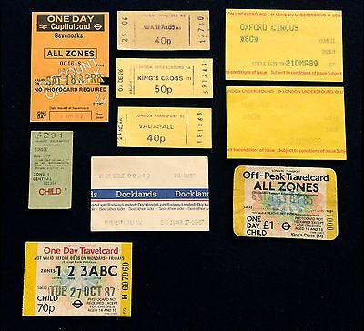 London Transport and DLR tickets/passes 1980s