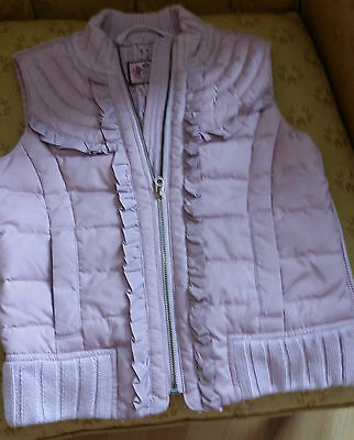 Juicy Couture girls pink padded knit jacket/ body warmer  8-10