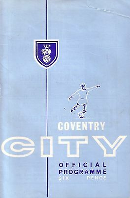 COVENTRY v IPSWICH 1964/65 LEAGUE CUP