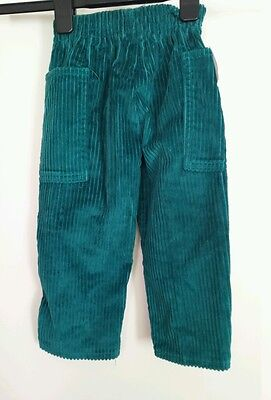 Trousers Vintage Original 1970s green Velvet, 1/2 Yrs , Children, made in France