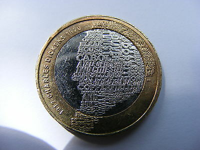 Charles Dickens 1812 - 1870 - 2012 British Circulated £2 Coin