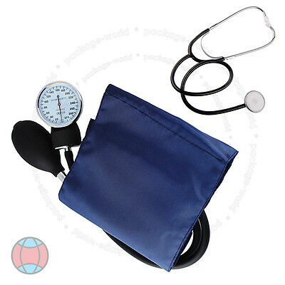 Sphygmomanometer Blood Pressure Monitor + Stethoscope Medical New Kit DCUK