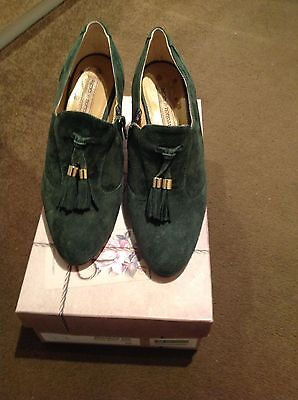 Agnes & Norman Beatrice Forest Green Suede shoes size 38 (UK 5)