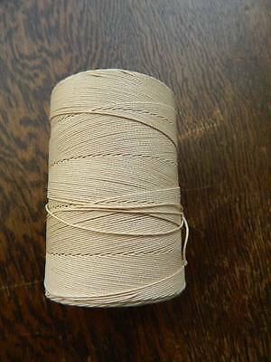 Vintage unused large spool or cop of Coats Barbour's linen lace thread cream