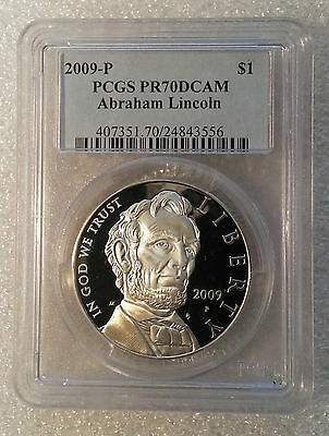 2009 $1 Abraham Lincoln Silver Proof Coin PR70
