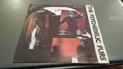 "The Psychedelic Furs 'pretty  In Pink' Uk Picture Sleeve 7"" Single"