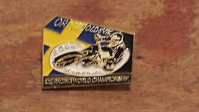 World Ice Semi Final 2004---Sweden---Speedway Badge---Gold Metal