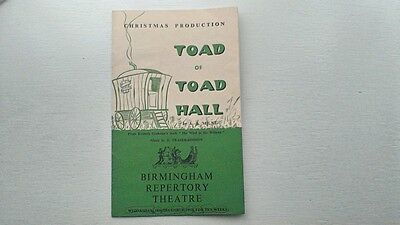 Birmingham Repertory Theatre Pantomime Programme 1963 Toad Of Toad Hall