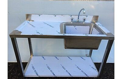 Commercial/catering Left Hand Single Bowl Stainless Steel Sink