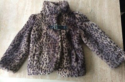 Girls Next Fur Coat Age 5-6 Years