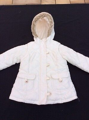 M&S Cream Winter Girls Jacket 2-3 Years