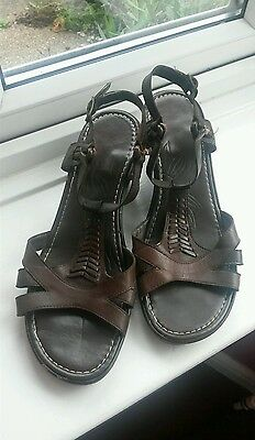 Clarks Brown Leather Sandals Size 6