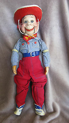 1950s HOWDY DOODY Ventriloquist Doll by IDEAL TOYS W/ SLEEP EYES  VINTAGE